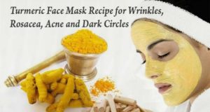 Face Mask Recipe For Wrinkles, Rosacea, Acne and Dark Circles based On Turmeric