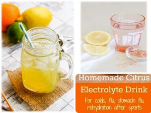 Homemade Citrus Electrolyte For Drinking – Great For Colds, Flu, Stomach Flu And Rehydration After Sports